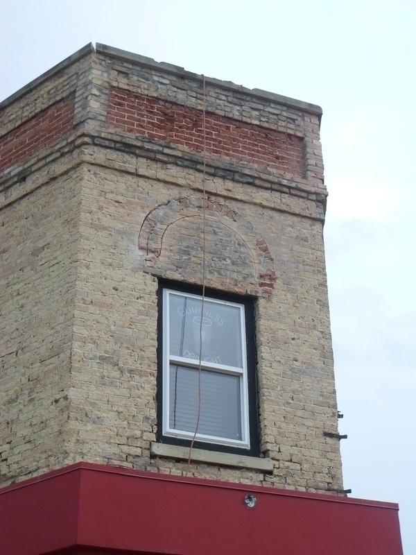 Start of window arches...